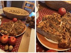 Recept na jablečný koláč s vlašskými ořechy
