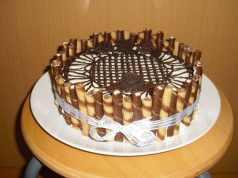 Recept na nepečený piškotový dort s tvarohem.