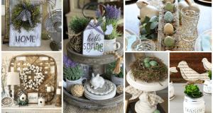 Inspirace na rustikální dekorace, které ve Vašem domově vytvoří jarní atmosféru!