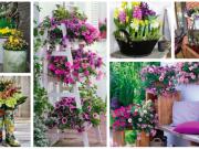 Květinová výzdoba na Váš dvůr: 30+ krásných jarních nápadů