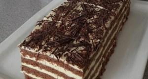 Kakaový dezert s vanilkovým krémem a medem