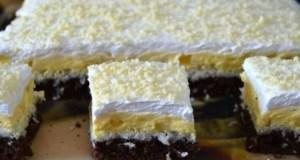 Recept na buchta s vanilkovým krémem a kokosem