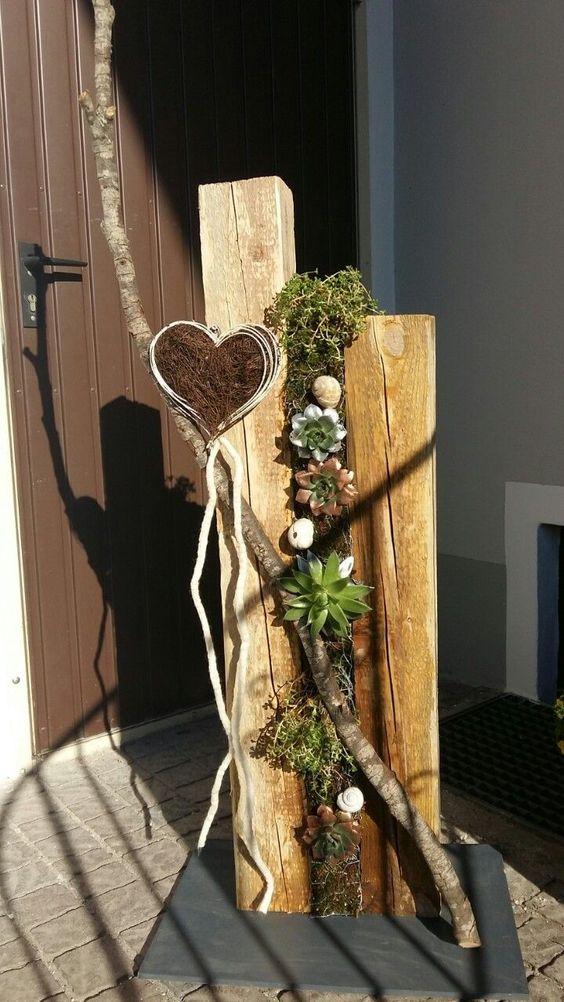 Inspirace na krásné dekorace z kusu dřeva