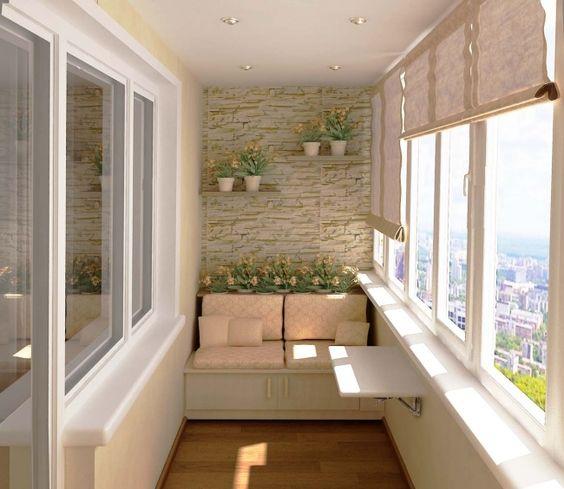 nápady na lavicové sezení na balkon