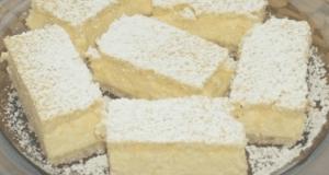 Výborný smetanový dezert s tvarohovým krémem a kokosem