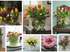 Inspirace na krásné tulipánové dekorace