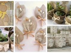Inspirace na krásné dekorace do domácnosti z pytloviny - Prima Inspirace