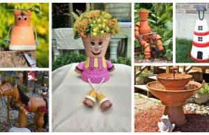 Zahradní dekorace a vychytávky ze starých květináčů