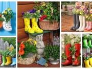 Nápady na proměnu starých bot v dekoraci: Inspirace na zahradu a terasu