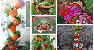 Nevyhazujte staré květináče: Proměňte je v překrásné zahradní dekorace