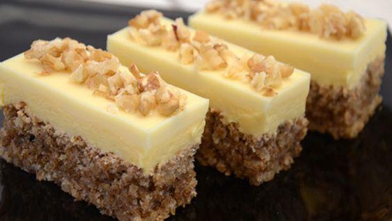 Recept na výborný ořechový dezert se smetanovým krémem