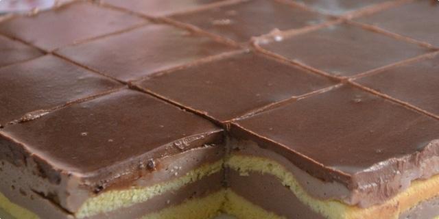 Krémové kostky s čokoládovou polevou