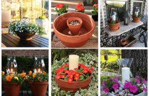 20+ inspirací na zkrášlení domova - Propojte obyčejnou svíčku s květináčem!