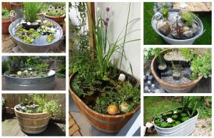 20+ zahradních jezírek: Využijte dřevěné či plechové vany!
