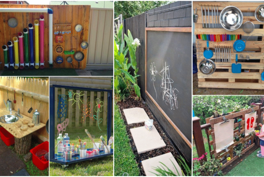 Letní inspirace na zahradní herní stěny a kreativní koutky pro děti!