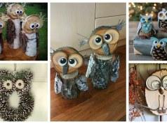 Podzimní sovičky vytvořené z přírodního materiálu: 25+ překrásných nápadů