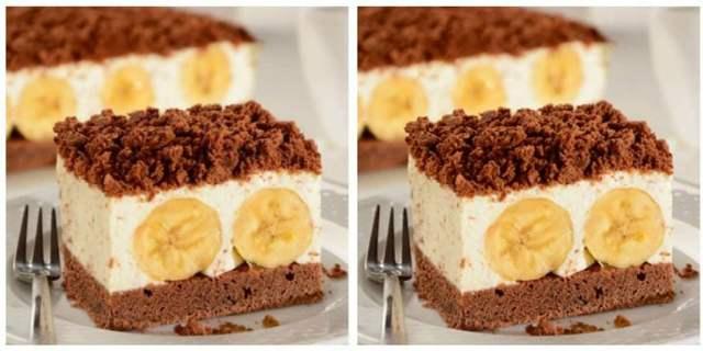 """Jednoduchý banánový koláč z hrnečku """"Krtkův plech"""""""