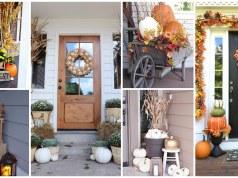 Podzimní dekorace na vchodové dveře