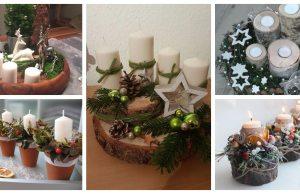 vytvořte si letos netradiční adventní věnec – překrásné inspirace na vánoční stůl