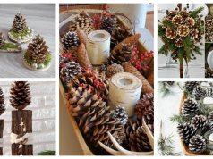 20+ úžasných zimních dekorací vytvořených ze šišek