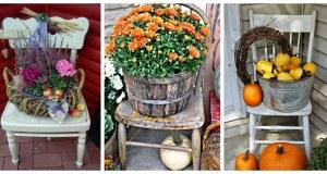 Proměňte starou židli v krásnou podzimní dekoraci