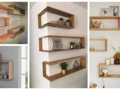 Nápady na dřevěné poličky na holé stěny