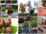 Tvoření pro děti: podzimní dekorace z kaštanů
