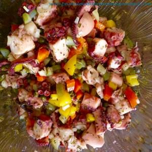 Pickled Octopus Salad - Primal Mediterranean Gourmet