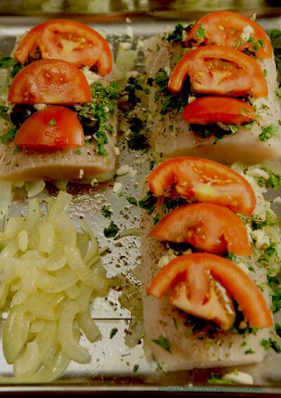 Baked Mediterranean Mahi-Mahi, Primal Mediterranean Gourmet