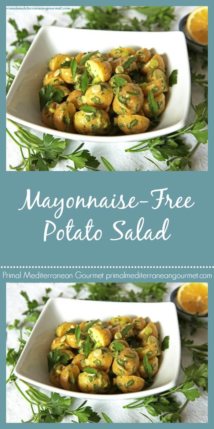 Mayonnaise Free Potato Salad
