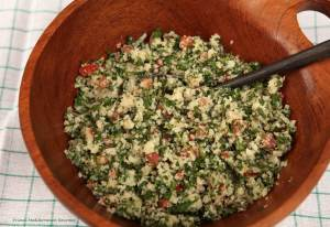 Cauliflower Tabbouleh (Grain Free)