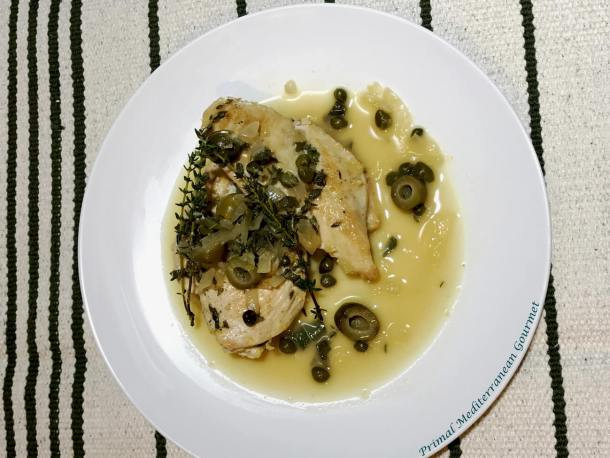 Chicken with Green Olives and Capers
