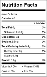 Healthy Fruit Gelatin Gummy Snacks Nutrition Information
