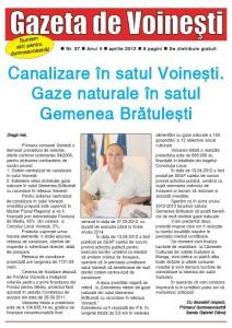 Gazeta de Voinesti nr. 37