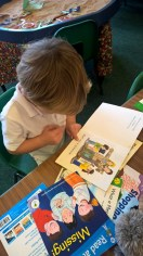 Identifying letters at the Story Table