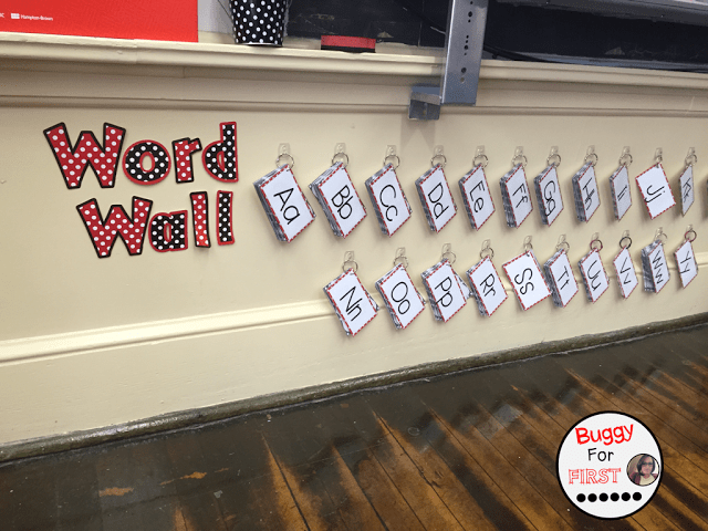 Portable word walls are engaging and interactive!  My first graders are loving this!