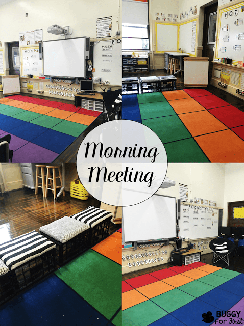 Morning Meeting time is so important in the elementary classroom. A dedicated area for morning meeting fosters a sense of community for the students and teacher.
