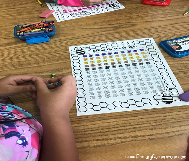 Students love grouping by 10s using this count by tens activity for the 100th day of school
