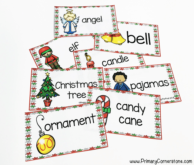 These cards help with the letters north pole writing unit during Christmas time. Vocabulary acquisition is extremely important. If like me, you have many ELLs in your classroom, then you understand the importance of both conversational and academic language building. Front loading and giving students access to varying tiers of vocabulary will allow for students to have some schema before new information is presented. .