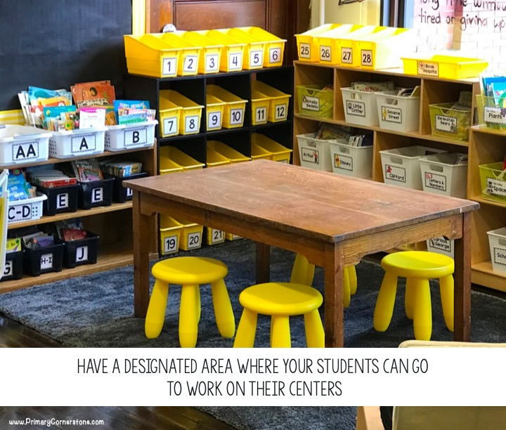 *Designated independent work areas should be in your range of vision, so you can supervise students as you work with your whole group.