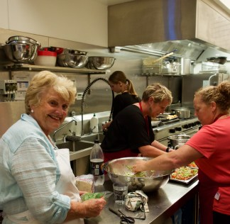 Colleen and her team, the creators of the delicious food at the drinks