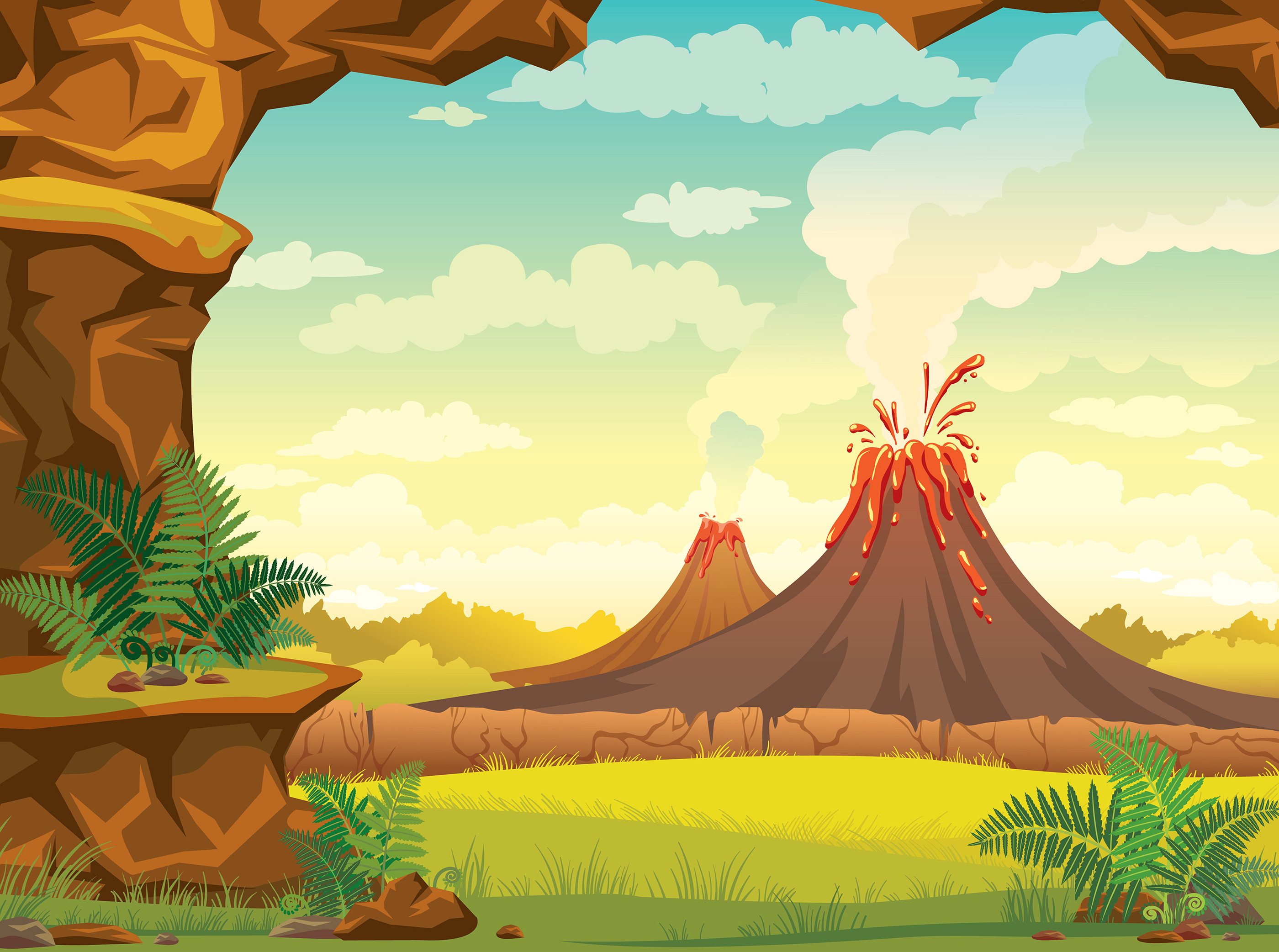 Geography Volcanoes Level 1 Activity For Kids