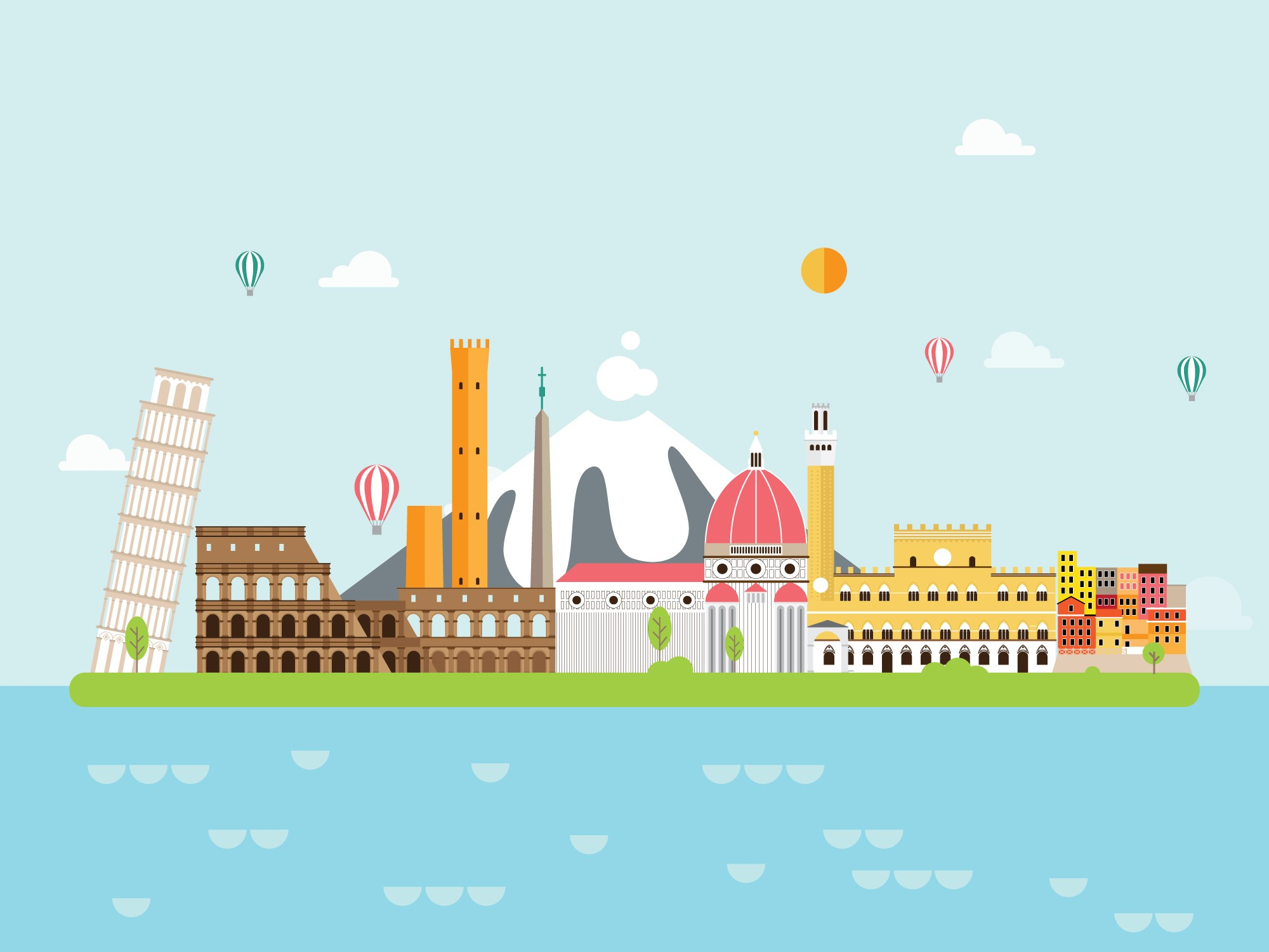 Geography Italy Level 1 Activity For Kids