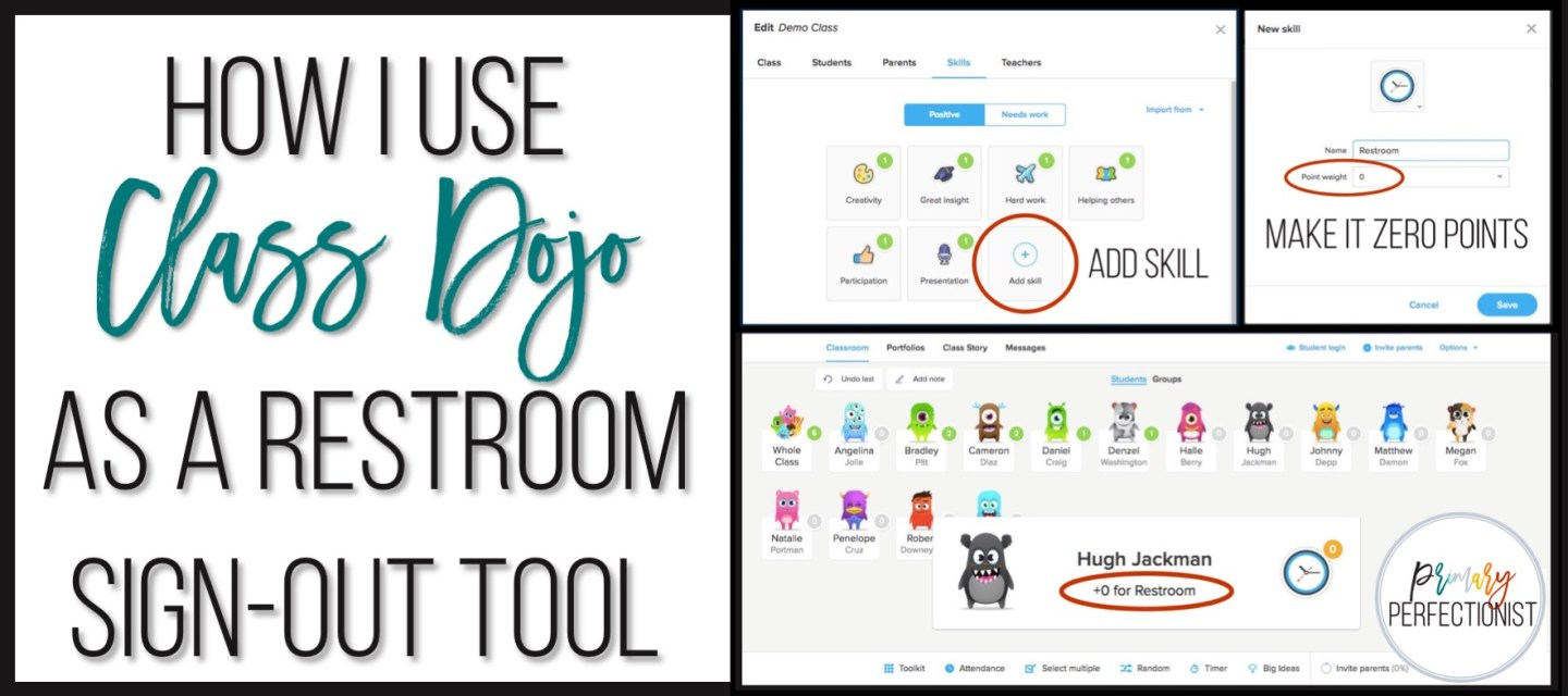 How I Use Class Dojo as a Restroom Sign-Out Tool - Primary