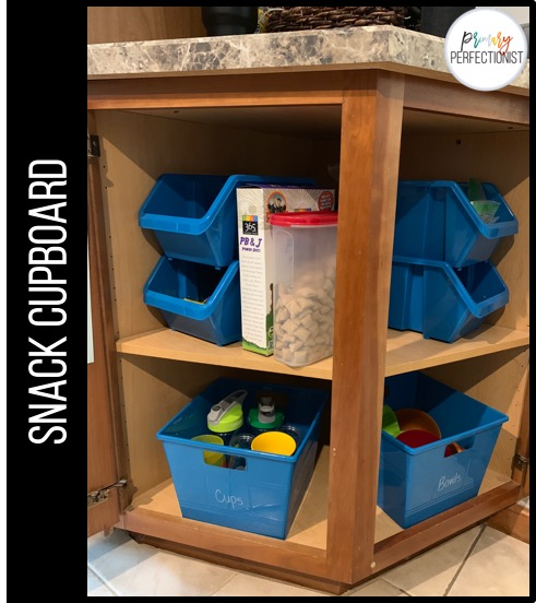 The Rest Of The Snacks Are Stored In The Snack Cupboard. We Have A Corner  Cabinet That Was Full Of Random Stuff. After Moving Some Things Around, ...