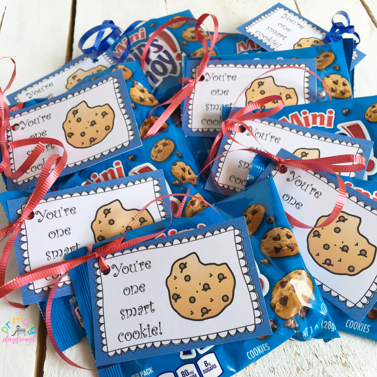 photograph regarding One Smart Cookie Printable named Youre One particular Clever Cookie! No cost Printable Tag - Basic Playground