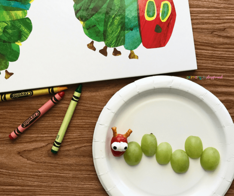 Literacy Snack Idea Caterpillar + Plus Free Printable