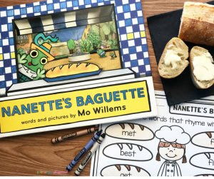 Literacy Snack Idea -Rhyming- Nanette's Baguette + Free Printable