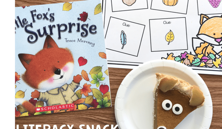 Literacy Snack Idea Fox + Free Printable