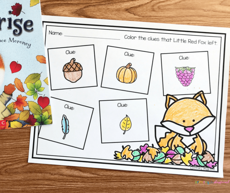 Literacy Snack Idea Fox + Free Printable Little Fox's Surprise